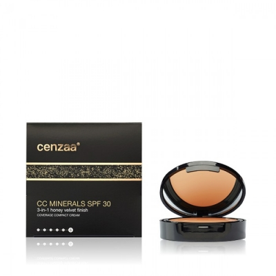 Cenzaa CC Minerals SPF 30 Honey Velvet Finish